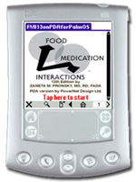 Screenshot of FMI13 for Palm OS PDAs